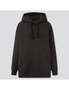 Women Sweat Oversize Long Sleeve Pullover Hoodie by Uniqlo