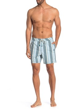 Vern Stripe Swim Trunks by Party Pants