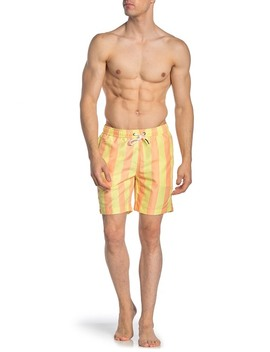 Charles Stripe Print Swimming Trunks by Onia