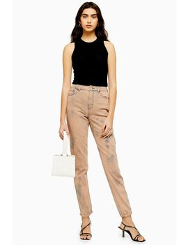 Rust Tie Dye Mom Jeans by Topshop