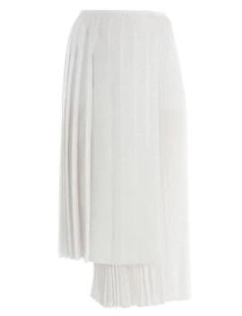 Drops Kimono Print Asymmetric Midi Skirt by Fendi