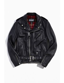 Schott Vintage Fitted Cowhide Leather Motorcycle Jacket by Schott