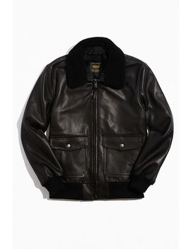 Golden Bear Carter Leather Bomber Jacket by Golden Bear