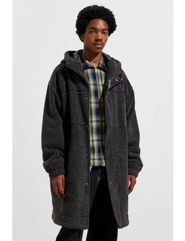 Uo Long Hooded Sherpa Coat by Urban Outfitters