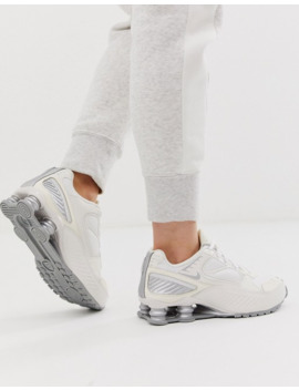 Nike Cream And Silver Shox Enigma 9000 Sneakers by Nike