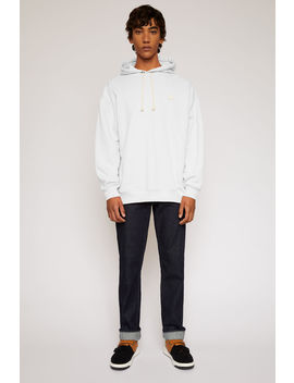 Face Hooded Sweatshirt Optic White by Acne Studios