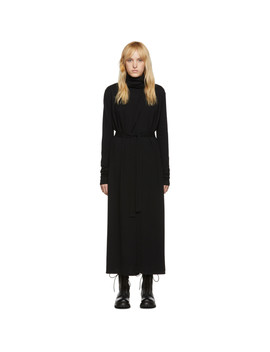 Black Bathrobe Dress by Rick Owens