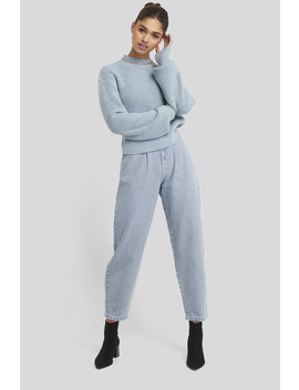 Front Dart Slouchy Jeans Blue by Na Kd