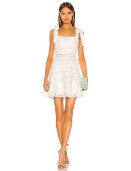 Kirra Tie Shoulder Mini Dress In Ivory by Zimmermann
