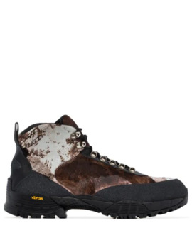 Camouflage Pony Hiking Boots by 1017 Alyx 9 Sm