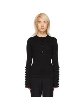 Black Buttons Sweater by Jil Sander