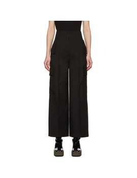 Black Large Pockets Trousers by Stella Mccartney