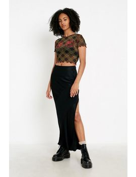Uo Dragon Check Mesh Top by Urban Outfitters