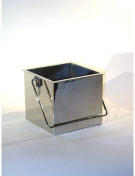 "Nickel Plated Square Planter For 4"" Plants by Etsy"