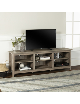 "Manor Park Wood Tv Media Storage Stand For Tv's Up To 78""   Grey Wash by Manor Park"
