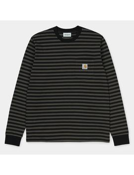 Haldon Stripe Pocket Long Sleeve T Shirt by Carhartt Wip