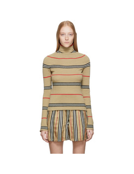 Beige Waita Turtleneck by Burberry