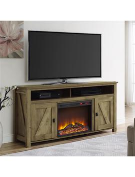 "Ameriwood Home Farmington Electric Fireplace Tv Console For T Vs Up To 60"", Natural by Ameriwood Home"
