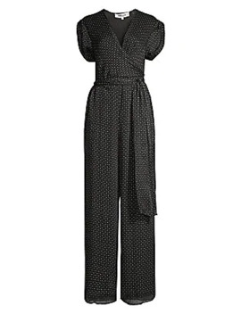 Cassandra Printed Silk Jumpsuit by Diane Von Furstenberg