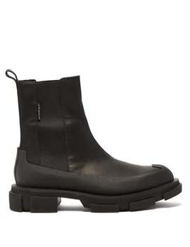 Bottes Oversize En Cuir Gao by Both