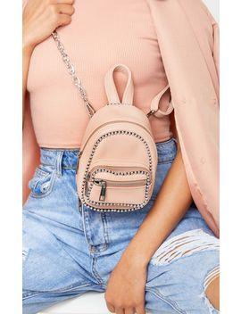 Blush Ball Chain Border Mini Rucksack by Prettylittlething