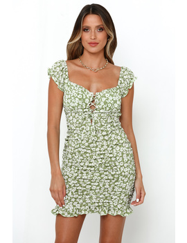 Sway From Side To Side Dress Green by Hello Molly