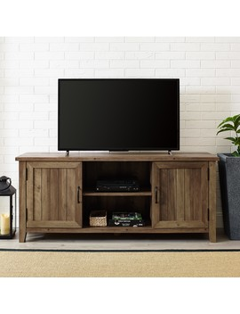 Franklin Grooved Two Door Reclaimed Barnwood Tv Console By Manor Park by Manor Park