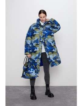 Steppmantel Mit Camouflagemuster by Zara