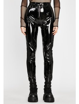 Pressure Point Vinyl Pants by Dolls Kill