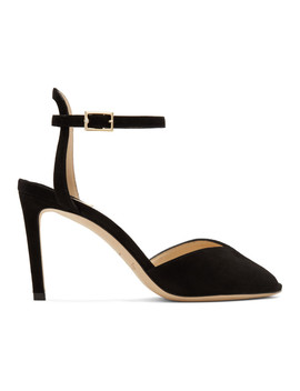 Black Suede Sacora 85 Heels by Jimmy Choo