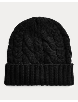 Cable Knit Cashmere Hat by Ralph Lauren