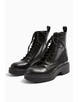 Kacy Black Low Lace Boots by Topshop