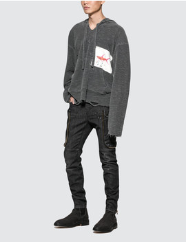 Black Slim Fit Cargo Jean by              Faith Connexion