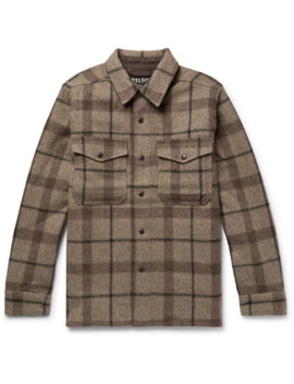 Checked Mackinaw Wool Shirt Jacket by Filson