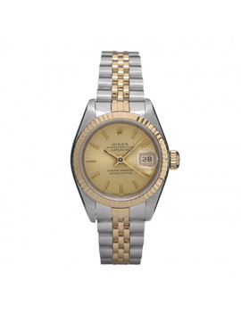 Rolex Stainless Steel 18 K Yellow Gold 26mm Oyster Perpetual Datejust Watch 69173 by Rolex