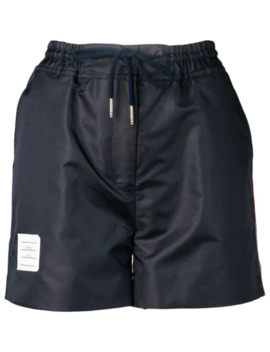 Navy Ripstop Track Shorts by Thom Browne