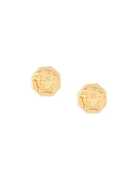 Logo Emellished Studs by Versace