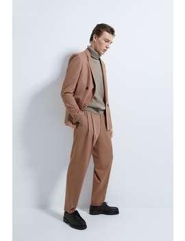 Anzughose Mit Bundfalten by Zara