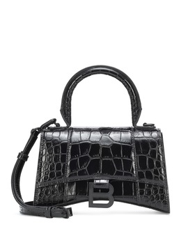 Hourglass Xs Leather Tote by Balenciaga