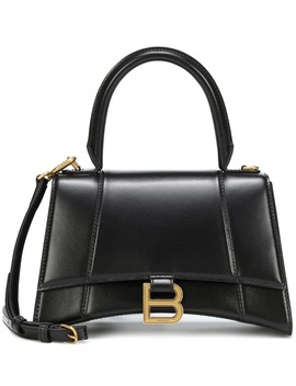 Hourglass S Leather Tote by Balenciaga