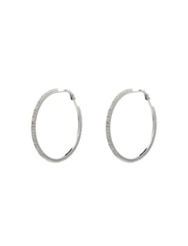 Crystal Embellished Hoop Earrings by Miu Miu