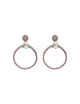 Embellished Hoop Earrings by Miu Miu