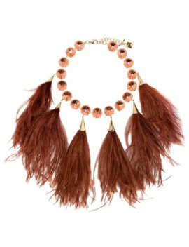 Feather Crystal Necklace by Rosantica