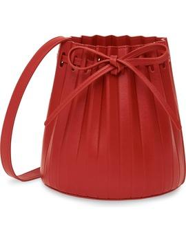 Mini Pleat Leather Bucket Bag by Mansur Gavriel