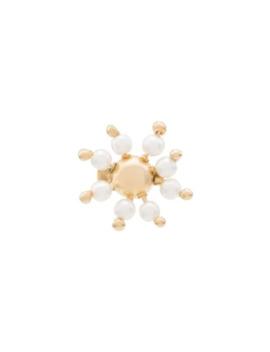 Daisy Stud Pearl Earrings by Rosantica