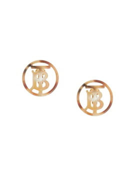 Resin And Gold Plated Monogram Motif Earrings by Burberry