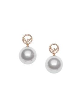 F Motif Drop Earrings by Fendi