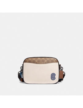 Camera Bag In Signature Canvas With Coach Patch by Coach