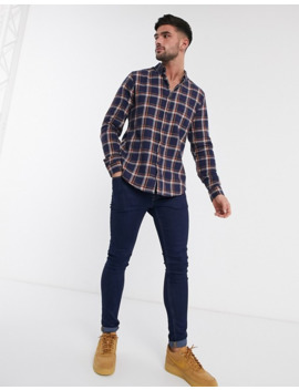 New Look Bond Check Shirt In Navy by New Look