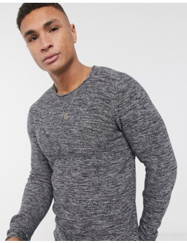 Solid Twisted Yarm Jumper In Grey by Solid